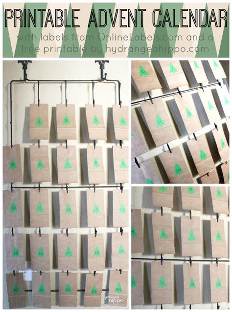 printable advent calendar labels free label printables on pinterest canning labels