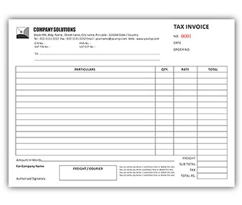 excel boats nz bill book design for tax invoice a4 offset or digital printing