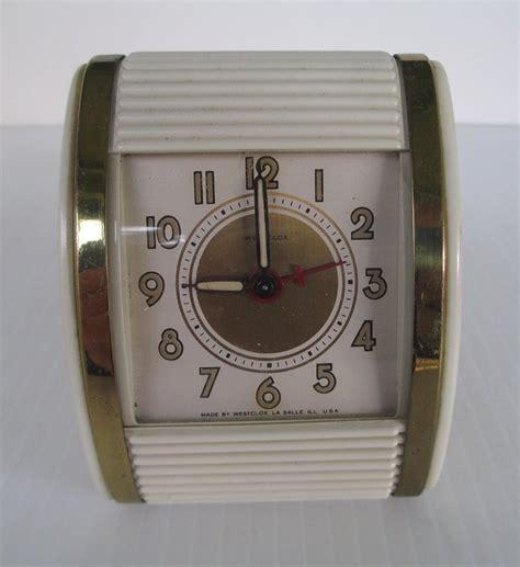 westclox roll top travel alarm clock vintage art deco