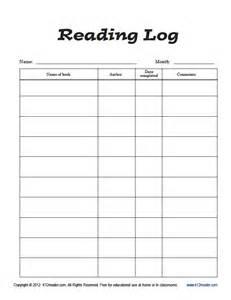 summer reading log template summer reading log