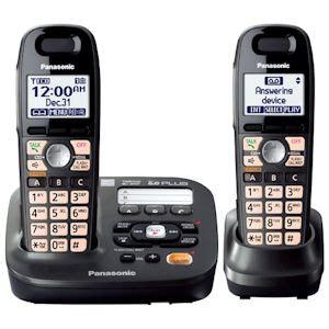 panasonic kx tg6592t dect 6 0 plus expandable cordless phones with alarm clock talking caller