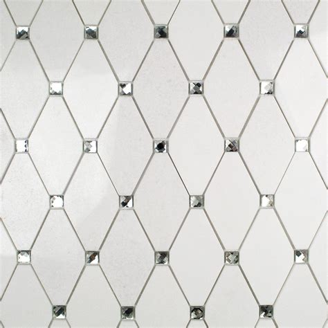 Tile Borders For Kitchen Backsplash by Reflection Diamond White Thassos And Mirror Marble And