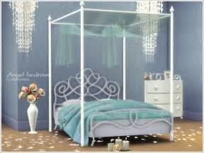 sims 4 cc beds severinka s romantic bedroom angel