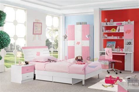 Cheap Good Quality Pink Color Girls Wholesale Kids Bedroom Cheap Quality Bedroom Furniture