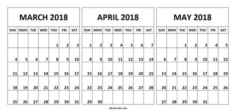 printable 3 month calendar march april may 2016 calendar march april may 2018 larissanaestrada com
