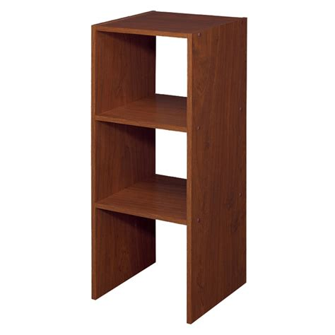 stackable closet organizers shop closetmaid 12 in cherry laminate stacking storage at
