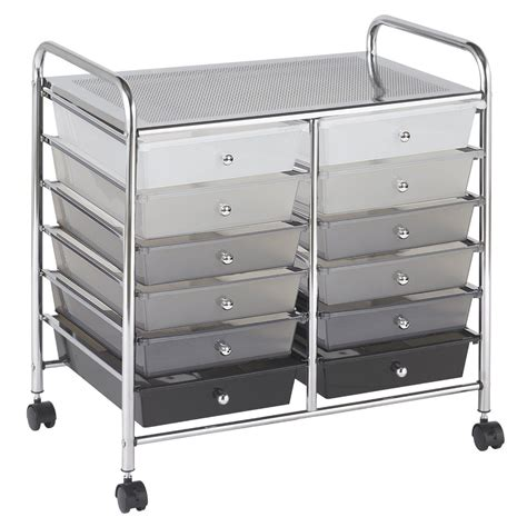 rolling storage with drawers new rolling storage organization 12 shelves plastic