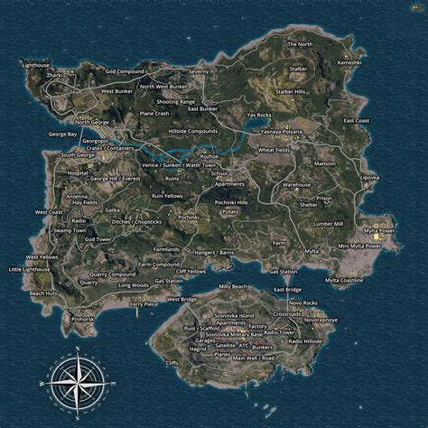 steam community guide detailed erangel forest map