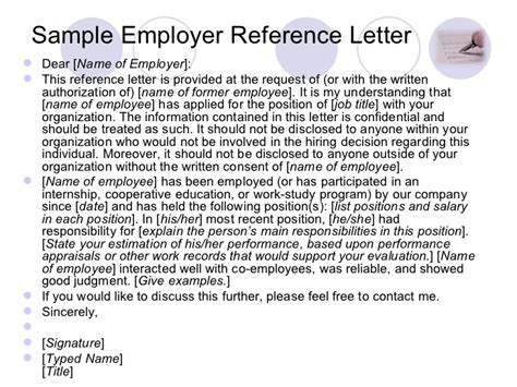 Reference Letter From Current Employer Writing A Reference Letter