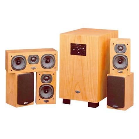quad lite system  gloss cherry home theater speaker
