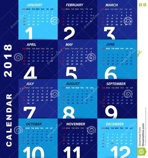 design calendar modern 2018 calendar template modern design stock vector image