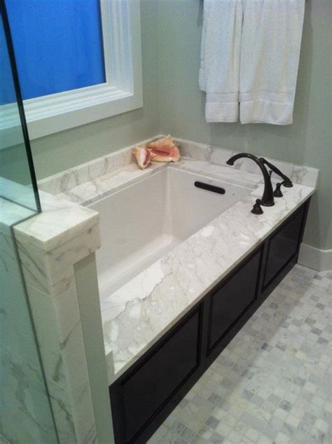 undermount bathtub calacatta gold marble tub undermount contemporary