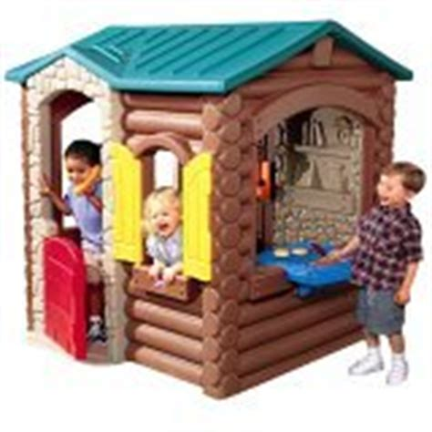 Plastic Log Cabin Playhouse by Best Plastic Playhouses