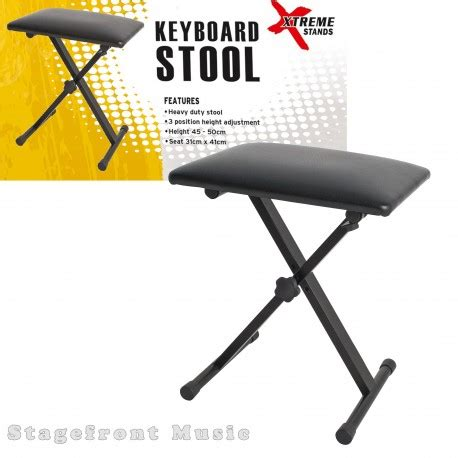 Keyboard And Stool by Xtreme Keyboard Stool Bench Heavy Duty 3 Position