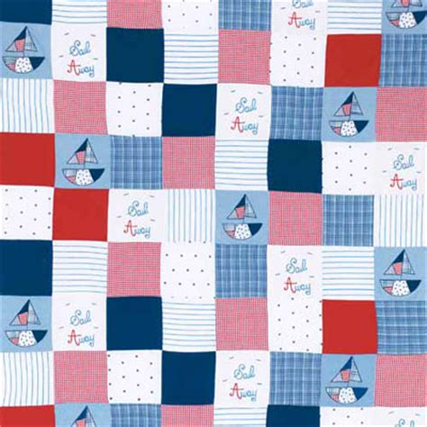 Patchwork Fabrics Uk - seaside fabrics boats and fishes fabrics for rooms