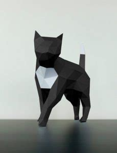Black And White Papercraft - papertrophy cat papertrophy