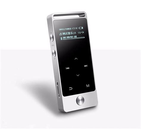 Benjie Mp3 Digital Audio Player Touch Screen 8gb With Fm Radio Silver benjie 2016 new touch screen mp3 audio player quran mp3