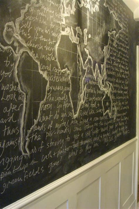 paint  white ta da chalkboard wall art chalk
