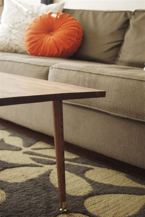 mid century modern coffee table diy diy mid century modern coffee table a pair of pears