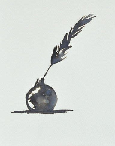 watercolor tattoo quill feather ink drawing pen and ink drawing feather and ink