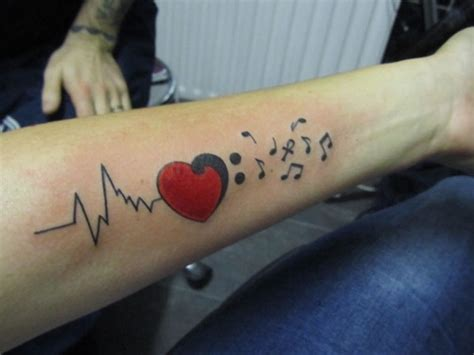 heartbeat rhythm tattoo image gallery heart rhythm tattoo design