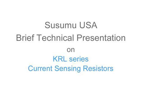 susumu current sense resistor