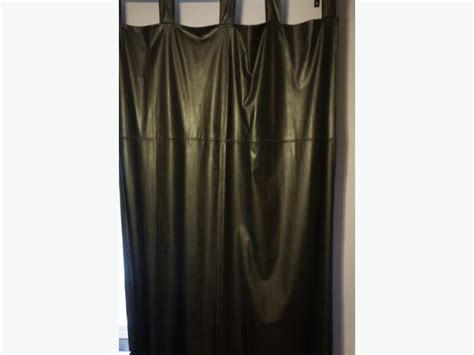 faux leather drapes faux leather tab top curtains west shore langford colwood