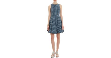 geo patterned jersey dress lyst opening ceremony geo pattern tech jersey sleeveless