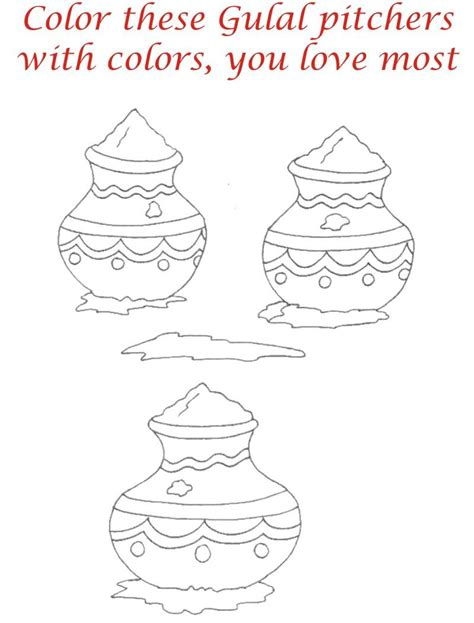 Holi Festival Colouring Pages Www Imgkid Com The Image Holi Colouring Pages