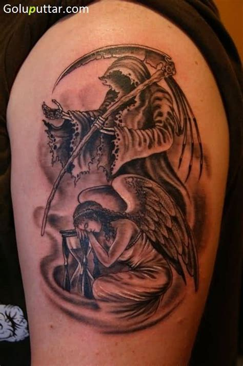 angel tattoo traditional traditional angel and devil tattoo for man photos and