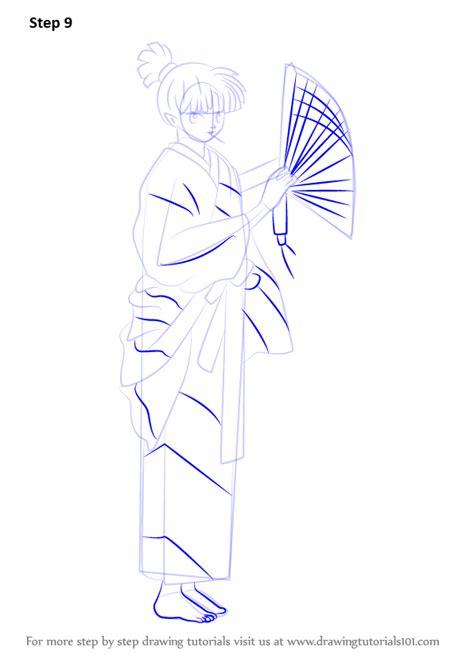 tutorial kagura learn how to draw kagura from inuyasha inuyasha step by