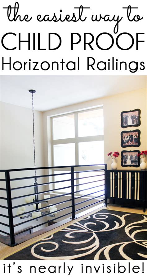 child proof banister diy with style how to child proof horizontal railings blue i style creating an