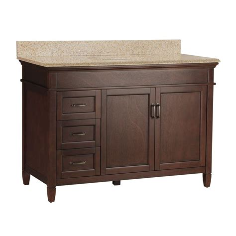 Bathroom Vanities Single Shop Allen Roth Eastcott Auburn 48 97 In Undermount Single Sink Bathroom Vanity Image 60