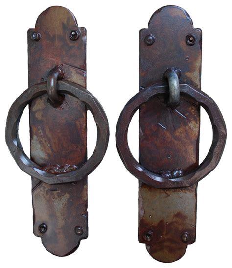 Rustic Door Hardware by Palermo Iron Garage Door Handles Rust Finish Rustic