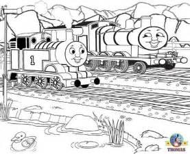 thomas train coloring pictures kids print color train thomas tank