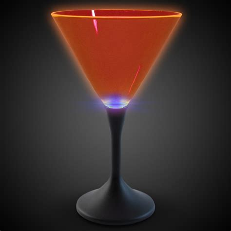 martini orange neon style led martini glasses bar supplies drinkware