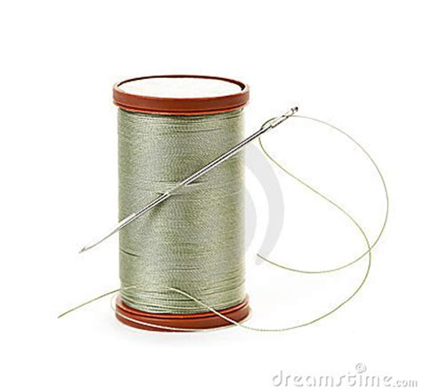 String With Needle And Thread - thread and needle royalty free stock photography image