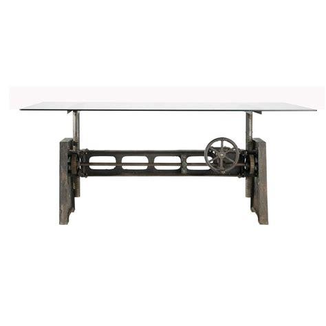 tavolo per sala tavolo per sala da pranzo in vetro e metallo l 200 cm