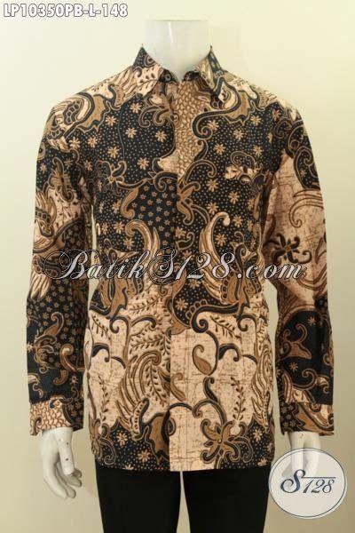 Kemeja Batik Kawung Grompol Printing Lengan Panjang batik hem terbaru kemeja batik lengan panjang elegan bahan halus proses printing