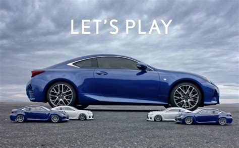 lexus commercial new lexus super bowl commercial features remote control rc