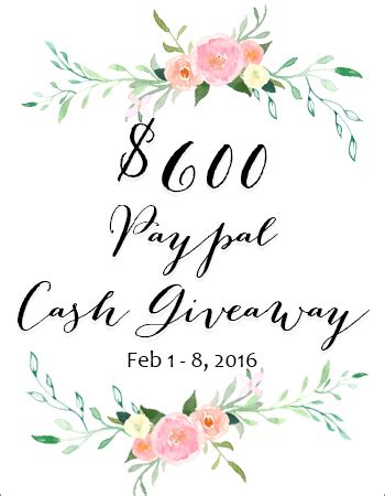 Today Great Cash Giveaway - 600 paypal giveaway eighteen25