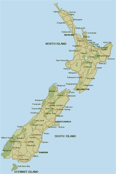 map of new zealand new zealand map