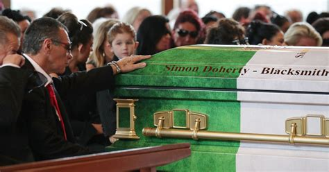 simon doherty funeral hundreds of travellers descend on