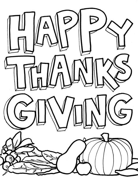 Thanksgiving Coloring Pages Easy | free printable thanksgiving coloring pages for kids