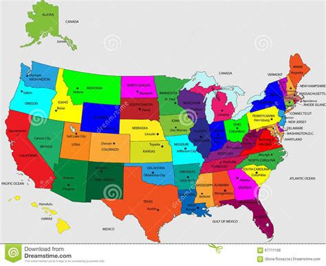 the color of us usa 50 states colors stock vector illustration of