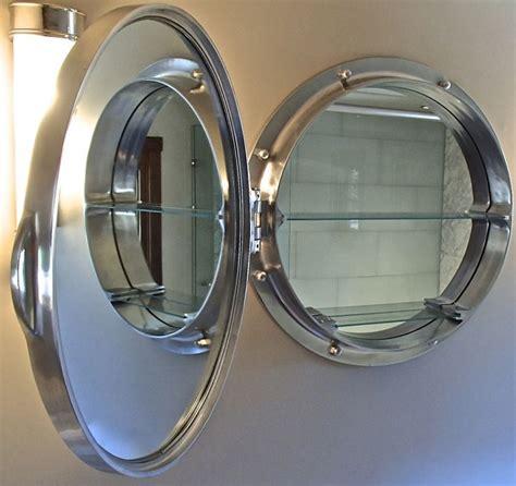 nautical medicine cabinet porthole mirrored medicine cabinet home design ideas