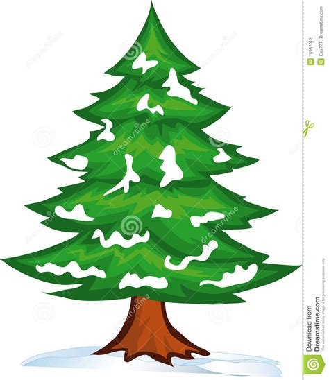 snow christmas tree stock vector image of winter white