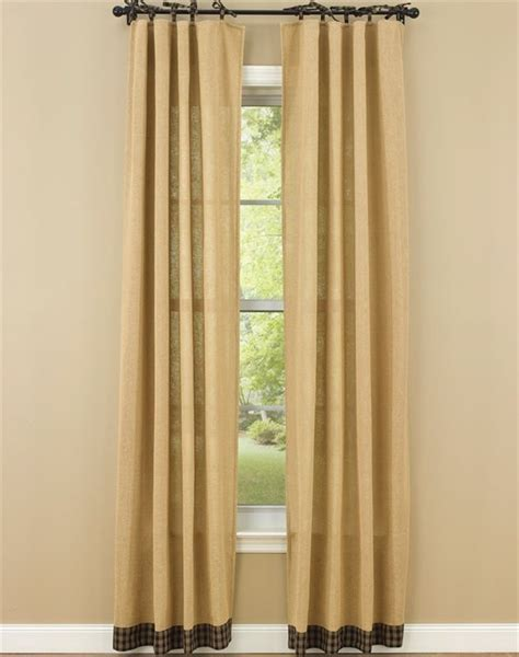 Black Tier Curtains Black Burlap Tie Sturbridge Curtain Panels 72 Quot X 84 Quot Park Designs Curtains Pinterest