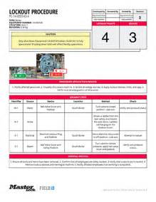 lock out procedures template 28 lock out procedures template top equipment