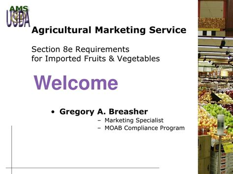 section 8 program requirements ppt agricultural marketing service section 8e